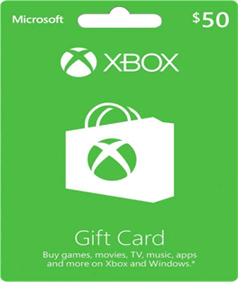Xbox 50 Gift Card - 50 xbox live gift card games gears