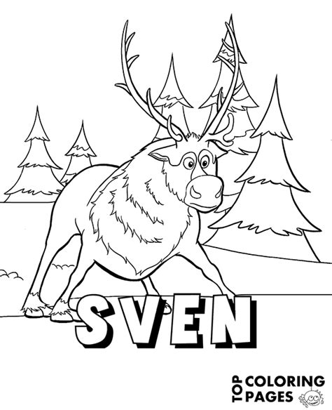 coloring pages frozen sven reindeer sven from frozen coloring page book sheet