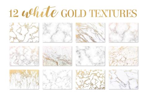 white gold marble texture background by design bundles