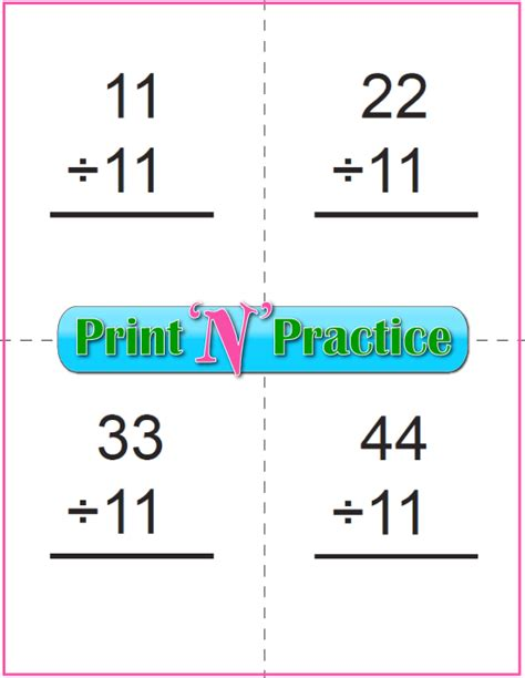 printable flash cards division 50 third grade division worksheets customize and print