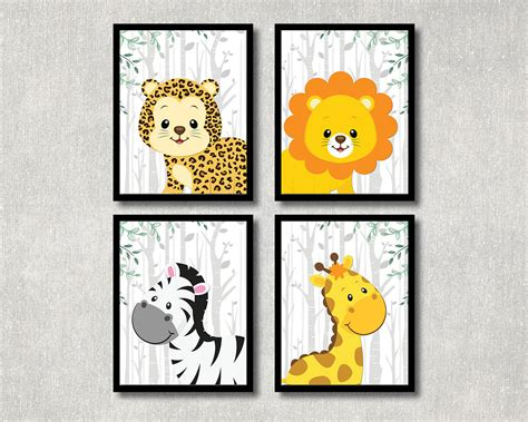Jungle Animal Nursery Decor Safari Animals Set Nursery Printable Jungle Theme Children