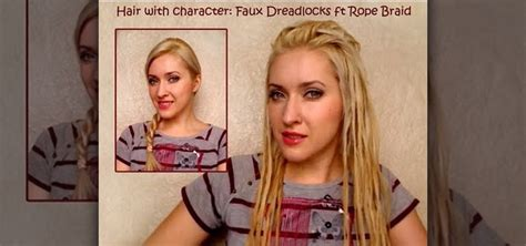 how to create faux dreadlocks using a two strand