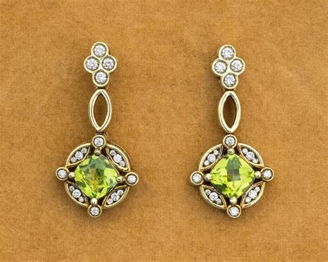 Peridot Chandelier Earrings 1990s Peridot Gold Chandelier Earrings For Sale At 1stdibs