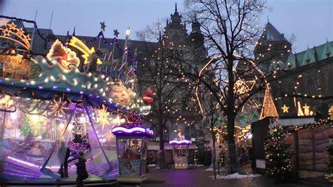weihnachtsmarkt beleuchtung kostenlose foto innenstadt d 228 mmerung karussell