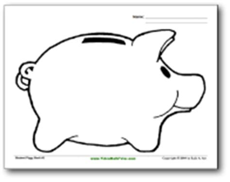 Piggy Bank Coloring Page Elementary Savings Pinterest
