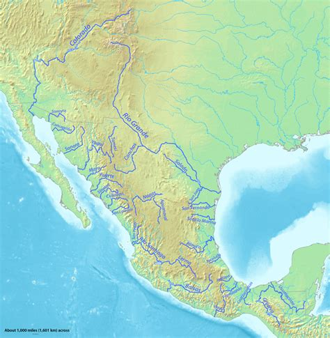 map of rivers in mexico list of rivers of mexico wikiwand