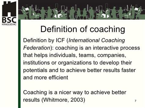 meaning of couching sladjana milosevic coaching