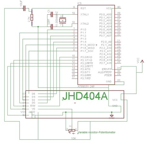 variable resistor microcontroller jhd404a interfacing with microcontroller microcontroller projects