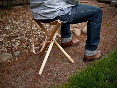 Ultra Light Folding Chair Folding Tripod Camp Stool Wood Amp Faulk