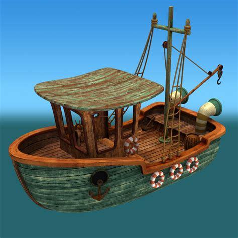 cartoon boat model maya cartoon boat
