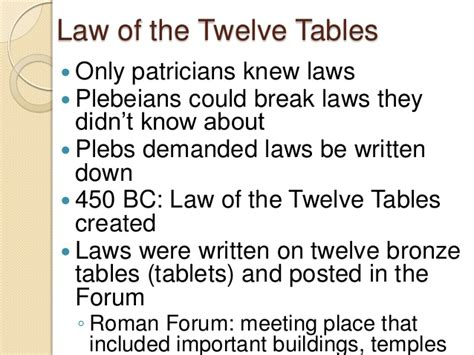 What Was The Significance Of The Twelve Tables by The Republic Lecture