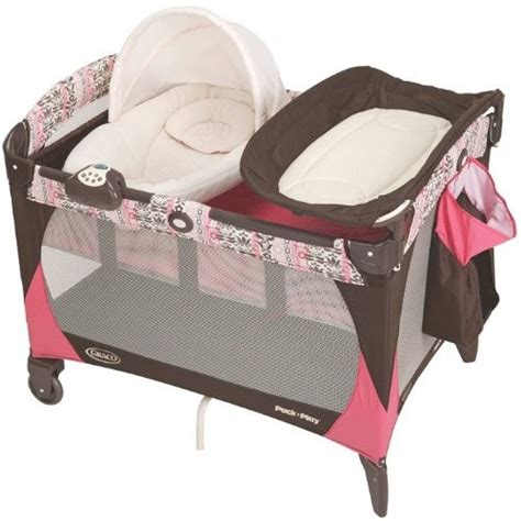 Pink And Brown Graco Pack N Play With Changing Table 320 Best Images About Pack N Play Playards On Babies R Us Mattress And Bassinet