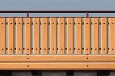 balkongeländer bausatz balkongel 228 nder aluminium balkongelaender alu holzoptik
