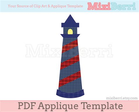 applique pattern lighthouse pdf applique template by mixiberri
