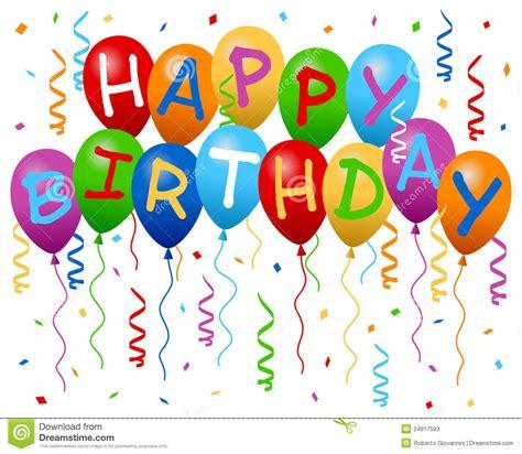 imagenes happy birthday son de gelukkige banner van de ballons van de verjaardag stock