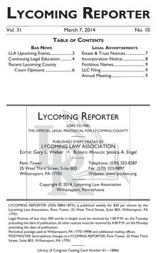 Lycoming County Court Records Lycoming County Court Cases