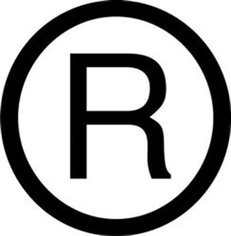 copyright trademark and service symbols
