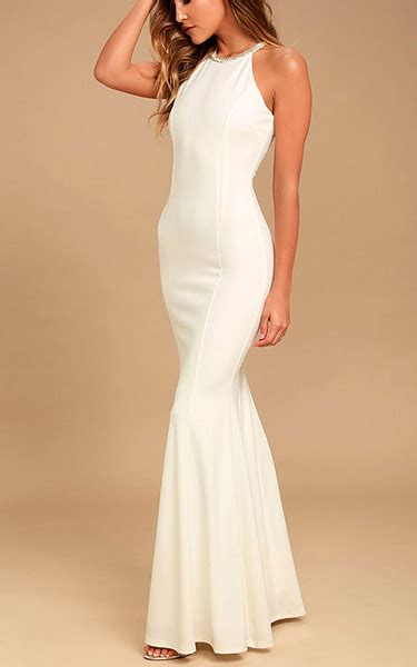 Hq 11649 Beaded Neck Knit Dress in the mirror white beaded maxi dress best fashion hq