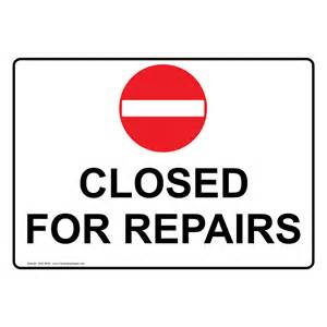 bathroom out of order closed for repairs sign nhe 8630 restroom closed out of