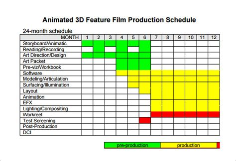 film shooting schedule template 11 free word excel