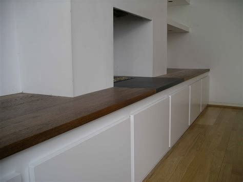 Handmade Cupboards - chimney alcove linking cabinet bespoke made by