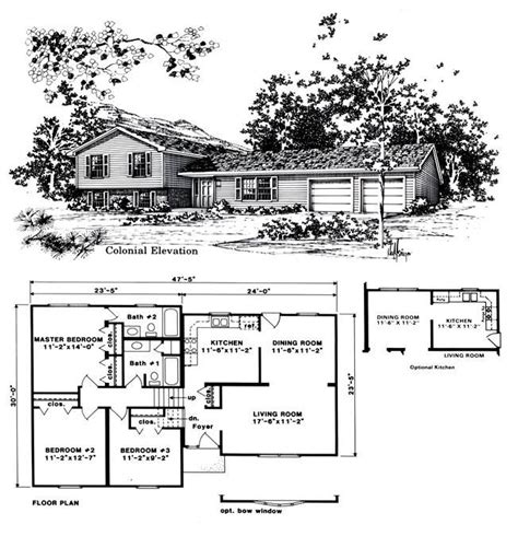 Tri Level Home Plans | beautiful tri level house plans 8 1970s tri level home