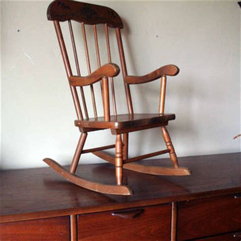 Antique Childrens Wooden Rocking Chairs by Vintage Child S Rocking Chair Wooden From