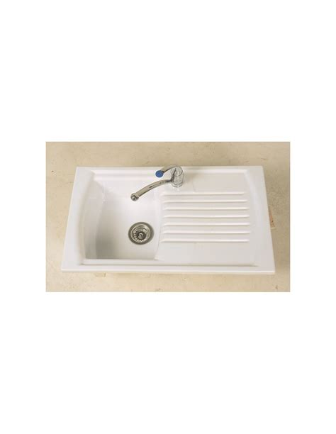 clearwater sonnet double bowl and drainer white ceramic thomas denby sonnet so1b 1 0 bowl sink white glossy