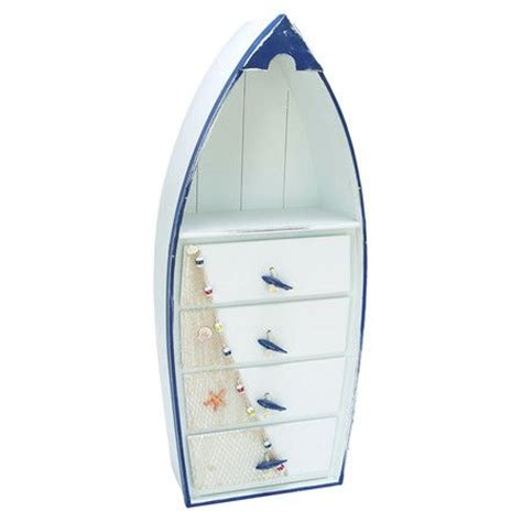 Boat Cabinets by Boat Shaped Wood Cabinet With Four Drawers And A Display