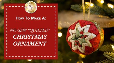 no sew quilted christmas ornament with jennifer bos