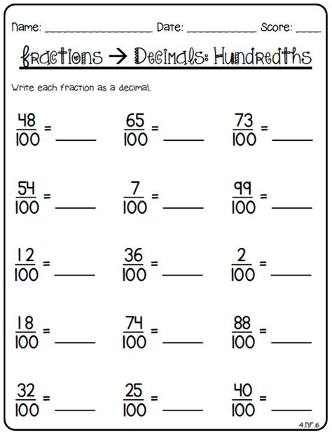 4th Grade Decimal Worksheets by Decimal Worksheets For 4th Grade 80 Fraction Printables