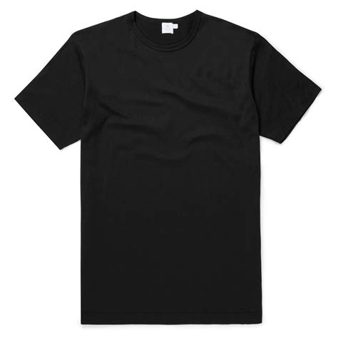 Black Shirts Black Sunspel T Shirt Designer Boutique Menswear