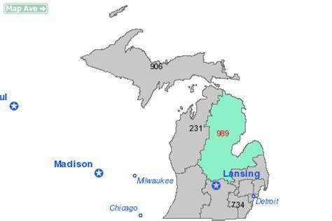 us area code michigan area code 989 information