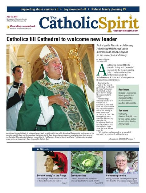 where to put st the catholic spirit july 17 2015 by the catholic spirit