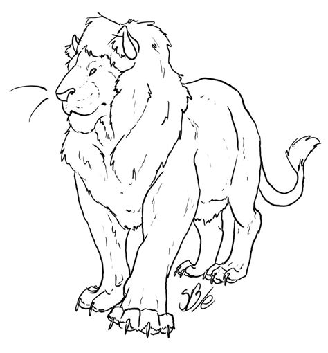 male lion template by sanr4 on deviantart
