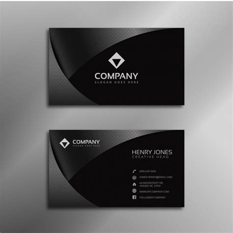 shiny card template shiny black business card vector free