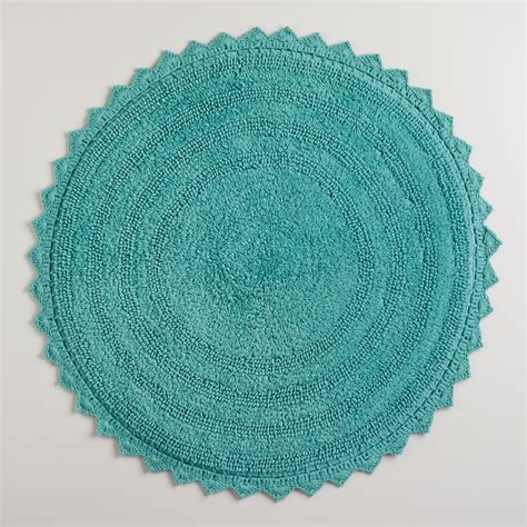 circular bath rug beryl green bath mat world market