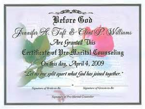 Premarital Counseling Certificate Of Completion Template by Premarital Certificate Of Completion Template