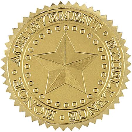 Gold Seal Stickers