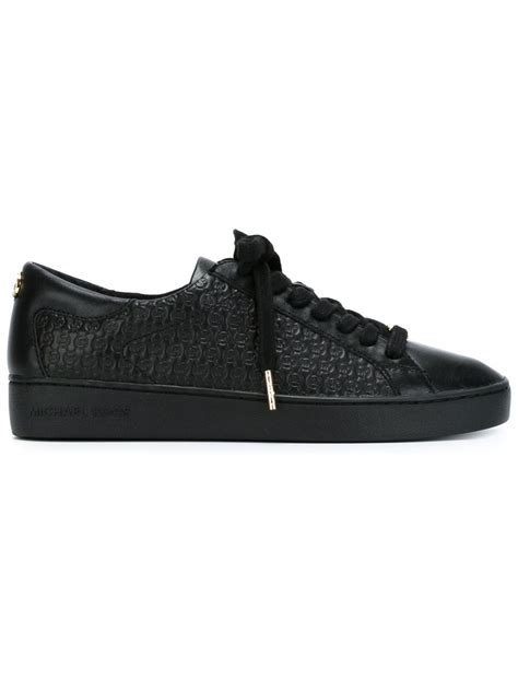 black michael kors sneakers michael kors breck sneakers in black lyst