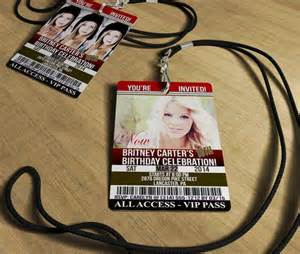 18th birthday invitation quot now and then quot vip invites actual pvc cards with lanyards click