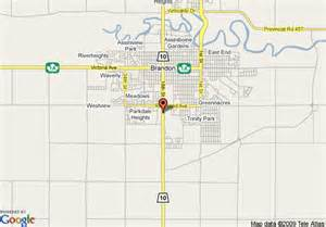pin brandon mb map on