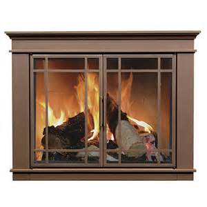 hamilton fireplace glass door bronze woodlanddirect