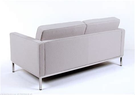 silver loveseat florence knoll loveseat silver gray fabric