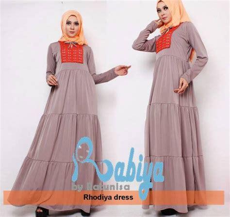 Putri Bahan Jersey Aplikasi Renda Goldpasmina Jersey Fit T rabia rhodiya renda baju muslim gamis modern