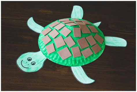 Paper Plates Crafts For Toddlers - paper plate turtle craft for free printable