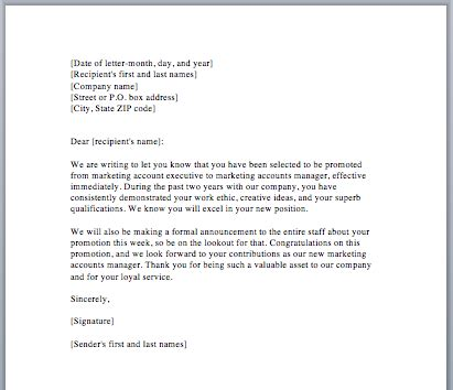 request letter of promotion to manager how to write application letter for promotion