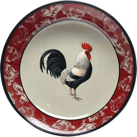 certified international dinnerware lille rooster