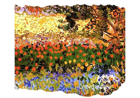 Flowering Garden By Van Gogh Art Classic Canvas Stretched Gogh Flowering Garden