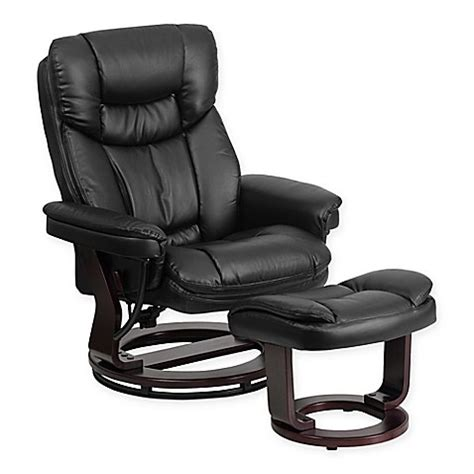 recliner and ottoman set black buy flash furniture contemporary recliner and ottoman set